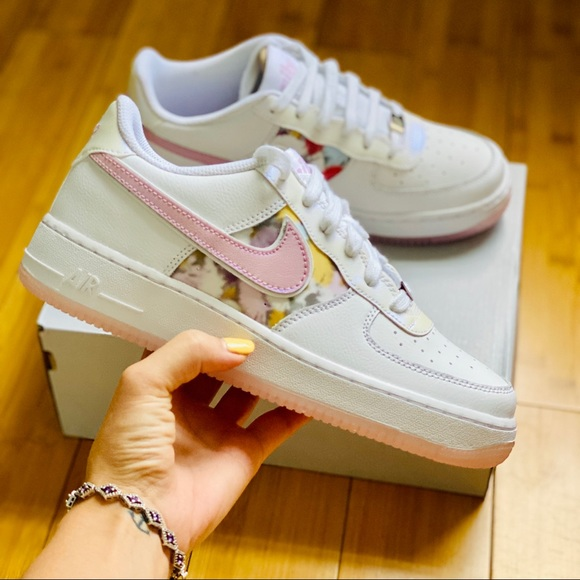 Nike Air Force Lv8 Floral Pink Gs